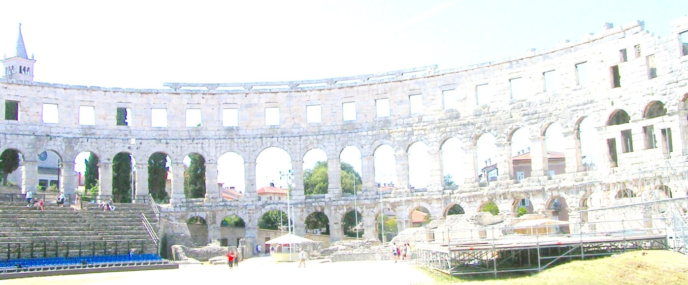 Amphitheater in  the city of Pula