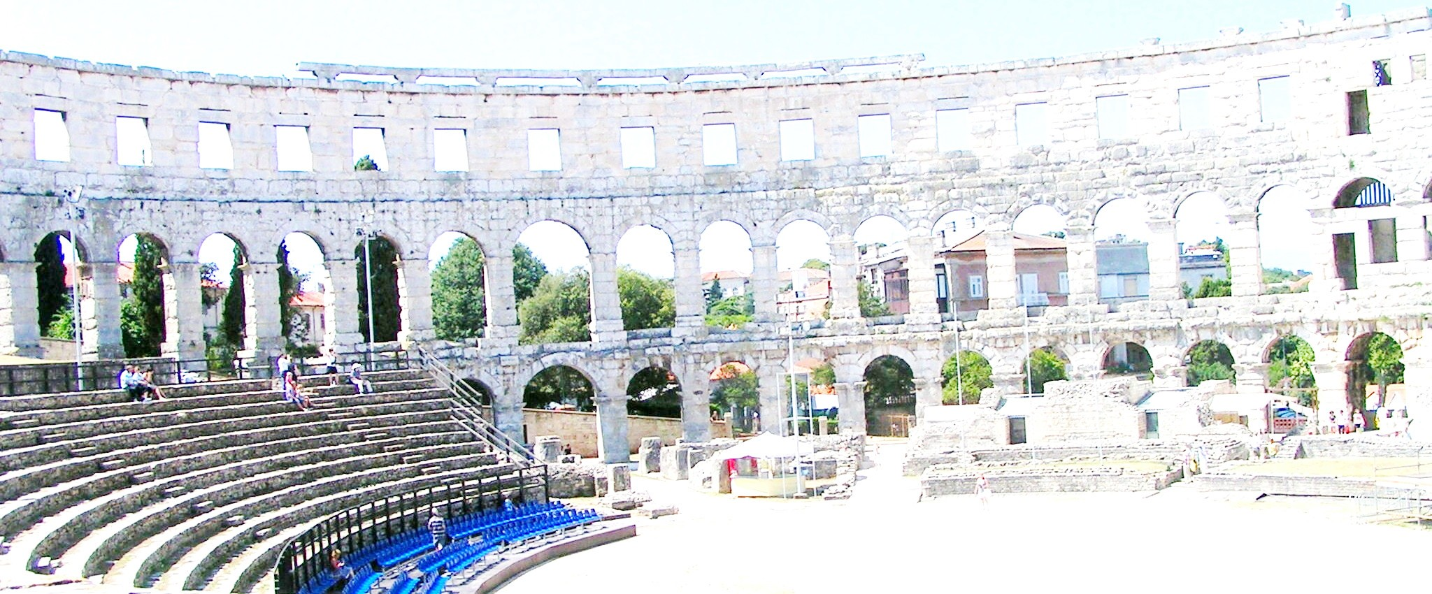 Istria Pula amphitheater built during the Roman Empire